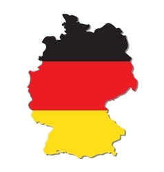 Germany map with flag vector
