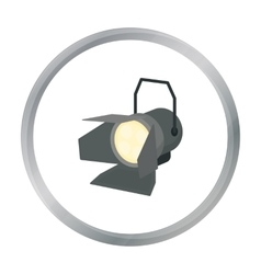 Spotlight icon in cartoon style isolated on white vector image