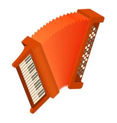 accordion icon isometric style vector image