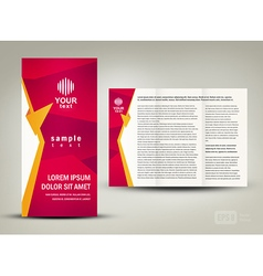 brochure folder design cmyk no transparent vector image vector image