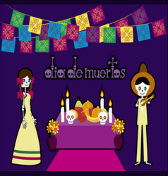 day of the dead in mexico 3 vector image vector image