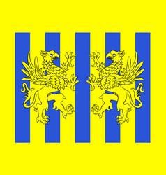 flag of saint-julien-en-genevois in haute-savoie vector image vector image