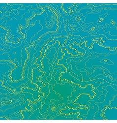 Topographic map ocean and yellow sand vector image
