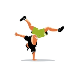 Breakdance sign vector image vector image