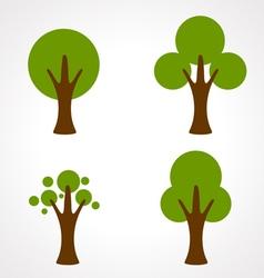 color tree vector image