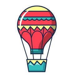hot air balloon icon cartoon style vector image