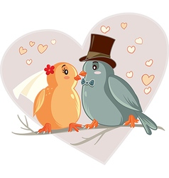 Love Birds Cartoon vector image vector image