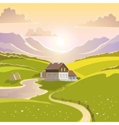 Mountain Landscape vector image