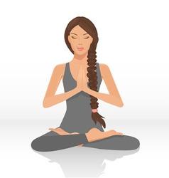 yoga lotus position vector image