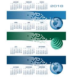 2018 calendar web banners vector image