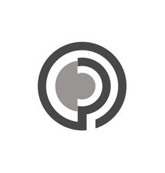 circle letter p logo vector image vector image