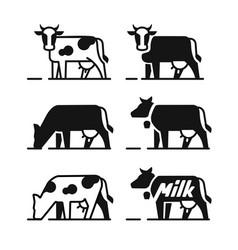 dairy cow symbols vector image