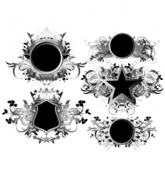 shields decorative vector image