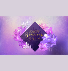 8 march sale banner with flower marble vector image