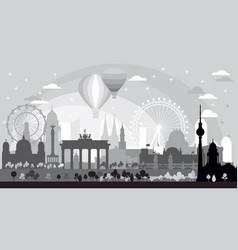 Berlin skyline at sunrise vector
