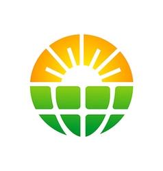 bio ecology sun solar technology logo vector image
