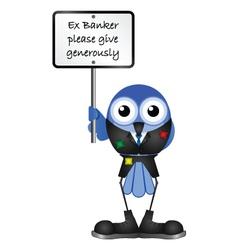 BIRD EX BANKER vector