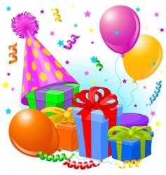 birthday decorations vector image