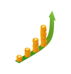 bitcoin crypto currency growth concept vector image