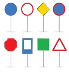 blank traffic sign set one vector image
