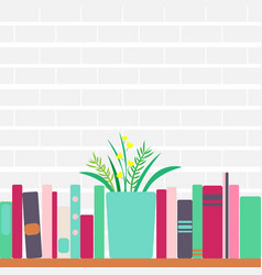 bookshelves with retro vector image
