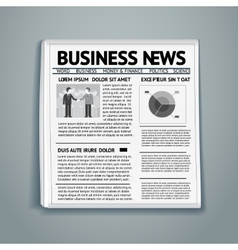 Business newspaper vector