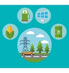 Car and ecology design vector