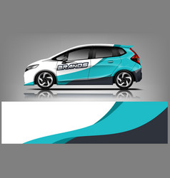 Car decal wrap design for company vector