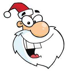 Cartoon Santa Claus Head vector image