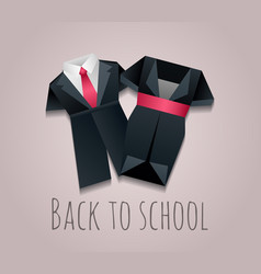 Childrens uniforms for vector
