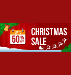 christmas sale banner 2 vector image