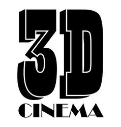 Cinema icon simple style vector