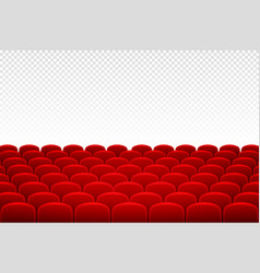 cinema seats and rows in back view cinema seats vector image