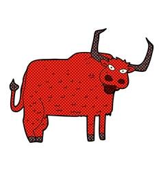 Comic cartoon hairy cow vector