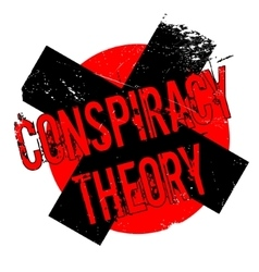 Conspiracy Theory rubber stamp vector