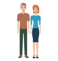 couple young social community vector image