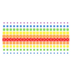 dice shape halftone spectral grid vector image