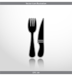 disware and cutlery web icon vector image