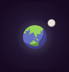 earth cute blue planet icon cartoon vector image
