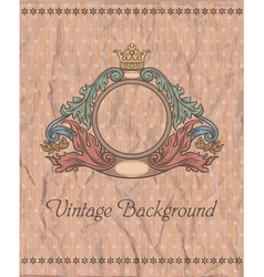 emblem on vintage background vector image