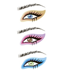 Eyes design elements vector image