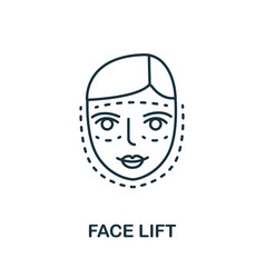 Face lift icon from plastic surgery collection vector