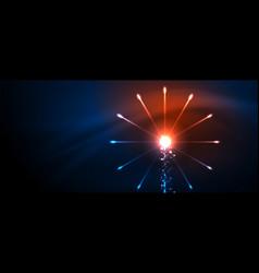 fireworks dark night background for celebration vector image