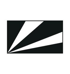Flag of Seychelles monochrome on white background vector