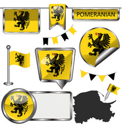 flag pomeranian poland vector image