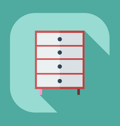 Flat modern design with shadow icons commode vector