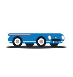 flats retro vehicle vector image