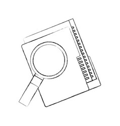 folder file and magnifier technology data storage vector image