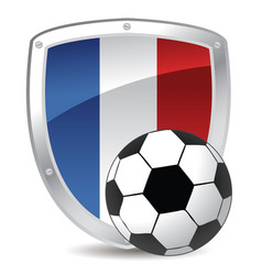 france shield soccer in colors vector image