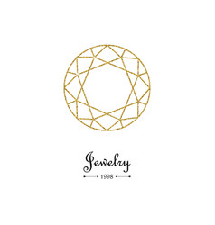 gemstone faceting gold pattern vector image